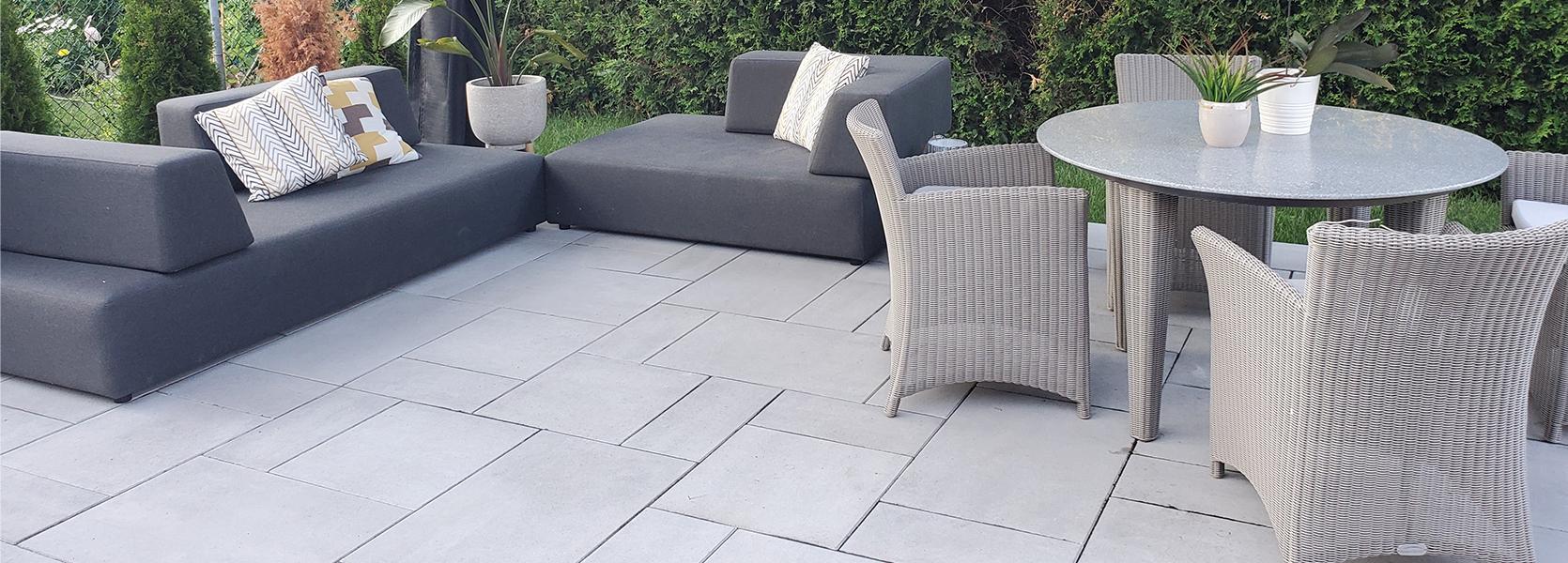 Garden patio paving